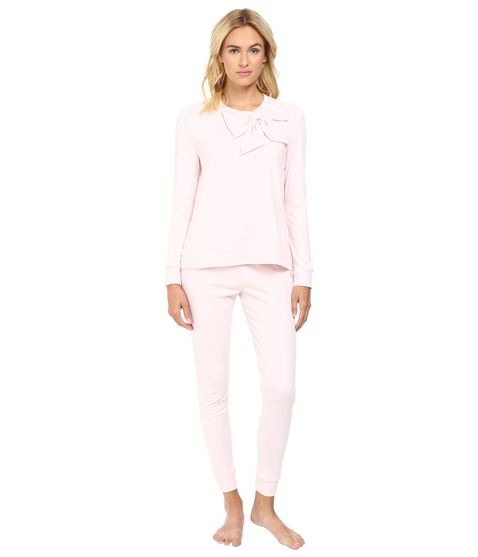 Kate Spade New York - Interlock Poplin Long PJ (Pastry Pink) Women's Pajama Sets