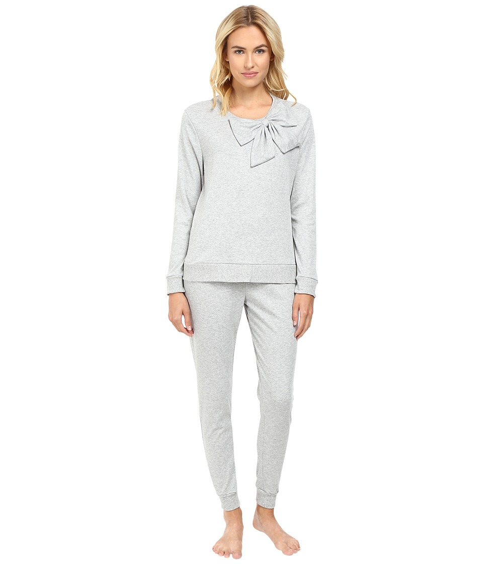 Kate Spade New York - Interlock Poplin Long PJ (Grey Heather) Women's Pajama Sets