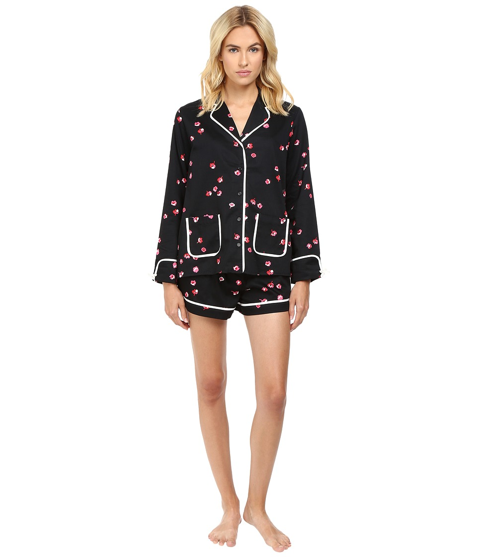 Kate Spade New York - Brushed Back Sateen Short PJ (Small Falling Floral) Women's Pajama Sets