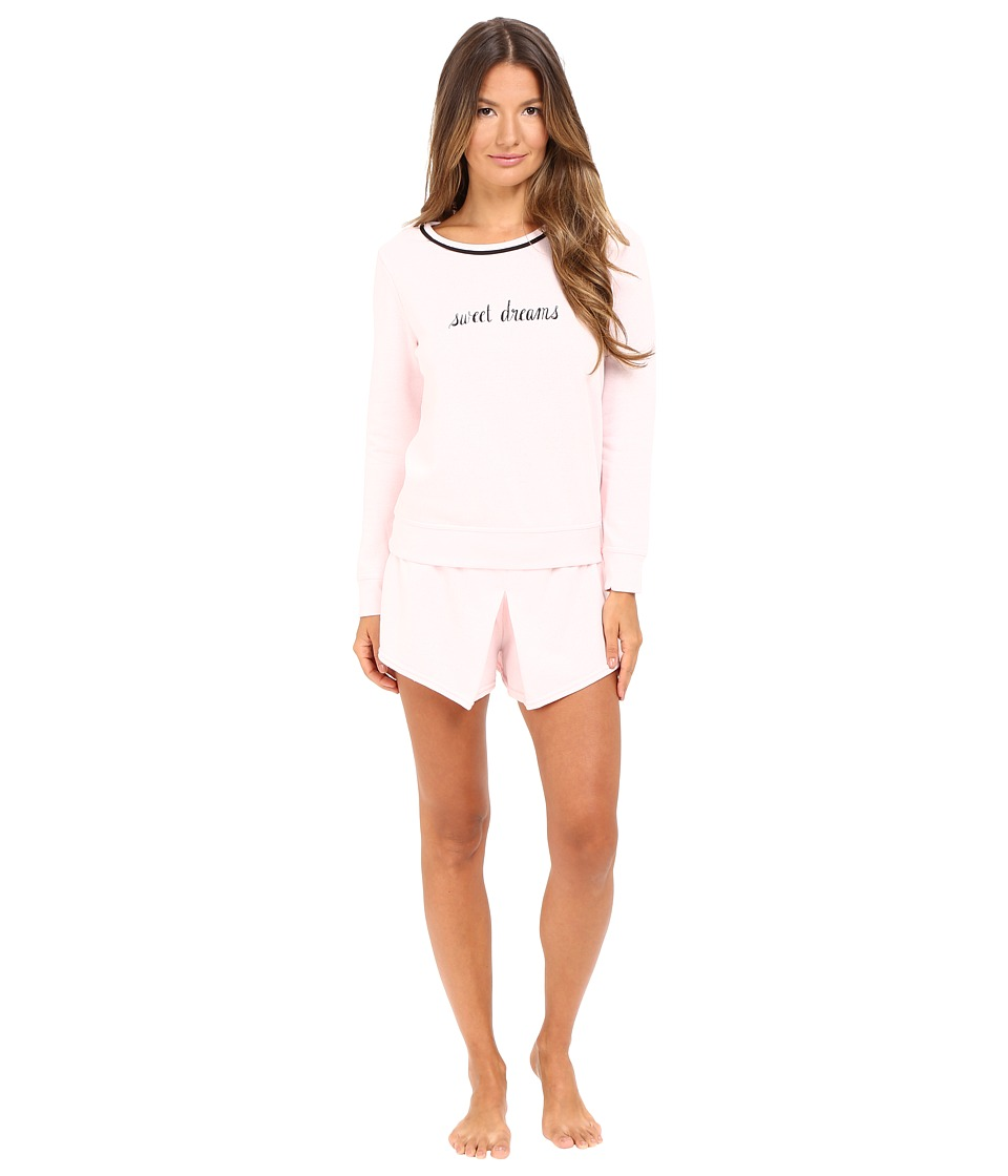 Kate Spade New York - French Terry Skort PJ (Pastry Pink Sweet Dreams) Women's Pajama Sets