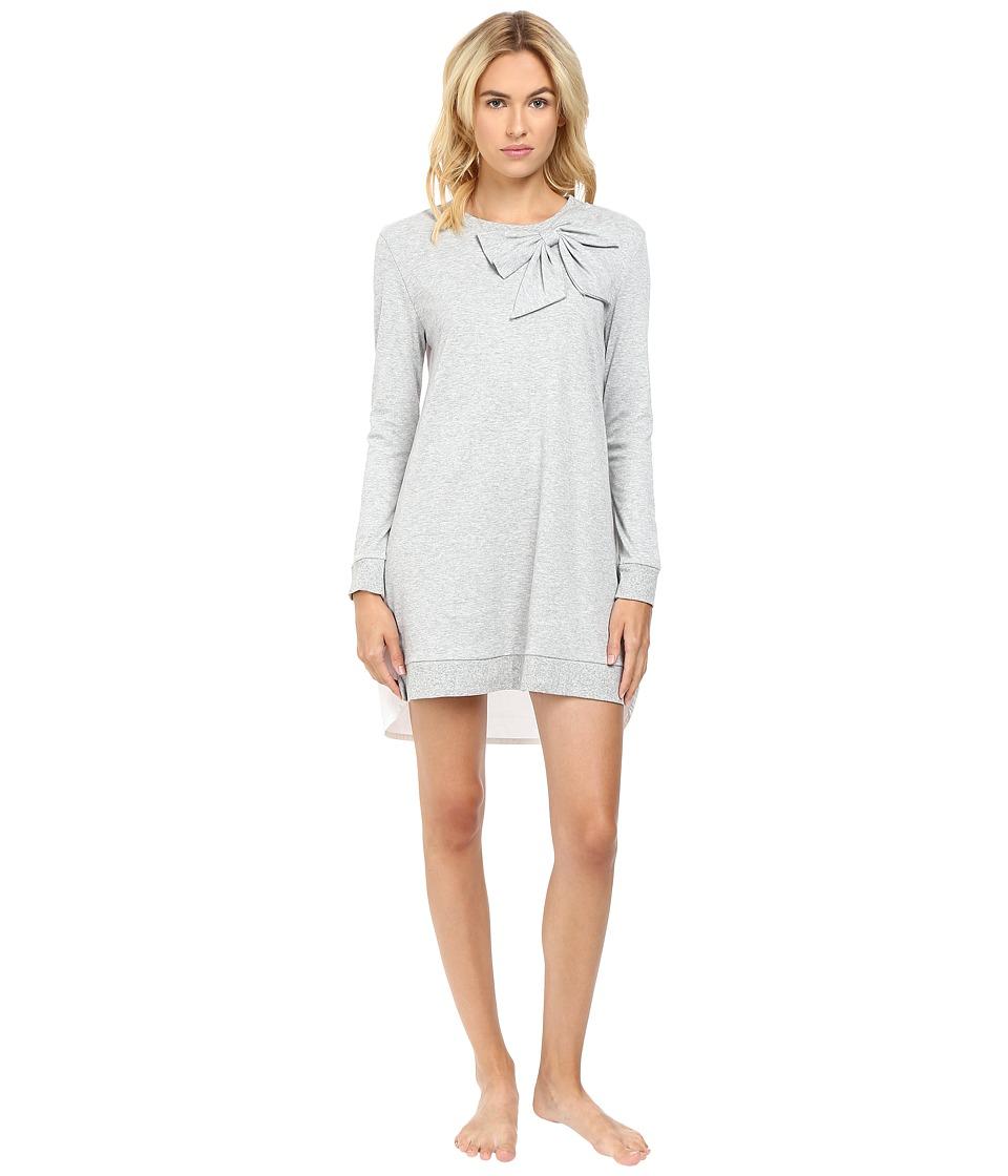 Kate Spade New York - Interlock Poplin Sleepshirt (Grey Heather) Women's Pajama