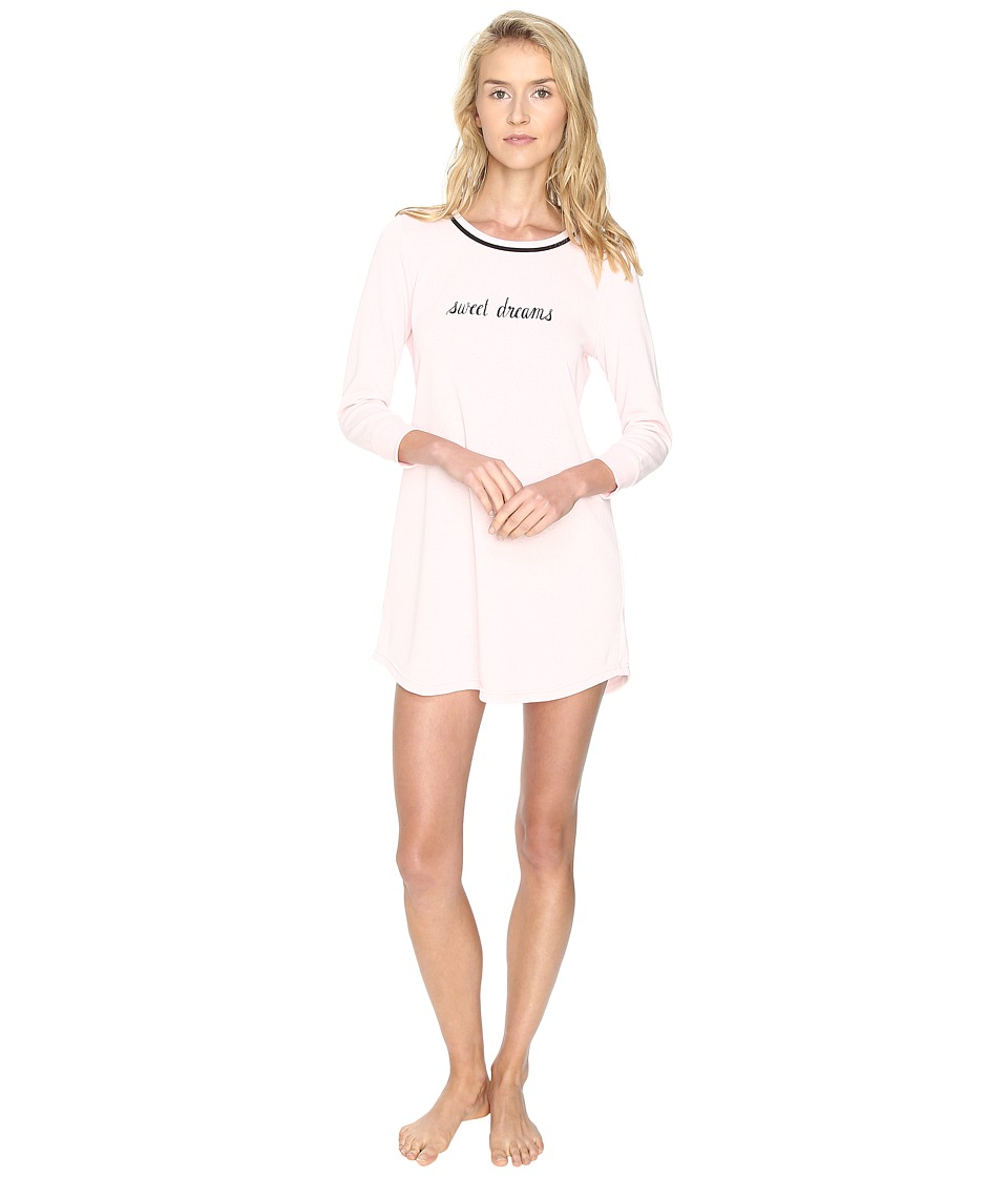 Kate Spade New York - French Terry Sleepshirt (Pastry Pink Sweet Dreams) Women's Pajama