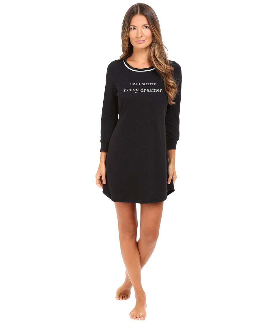 Kate Spade New York - French Terry Sleepshirt (Black Light Sleeper Heavy Dreamer) Women's Pajama