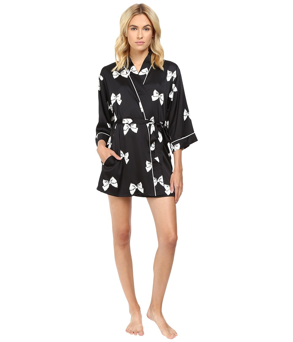 Kate Spade New York - Charmeuse Robe (Block Bow) Women's Robe