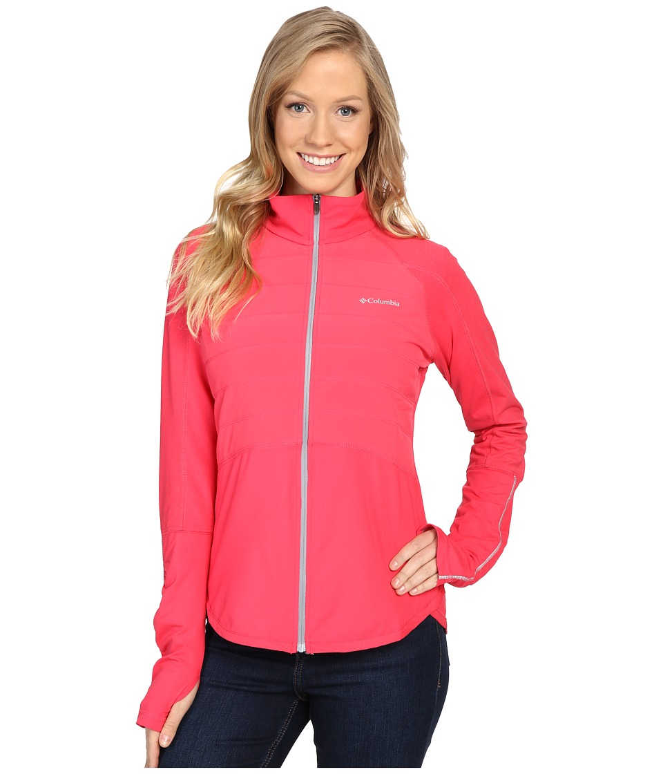Columbia - Trail Flash Hybrid Jacket (Punch Pink/Tradewinds Grey) Women's Coat