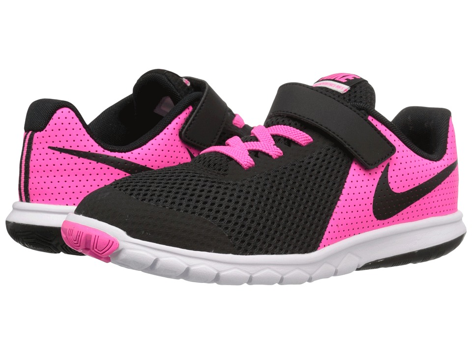 Nike Kids - Flex Experience 5 (Little Kid) (Pink Blast/White/Black) Girls Shoes