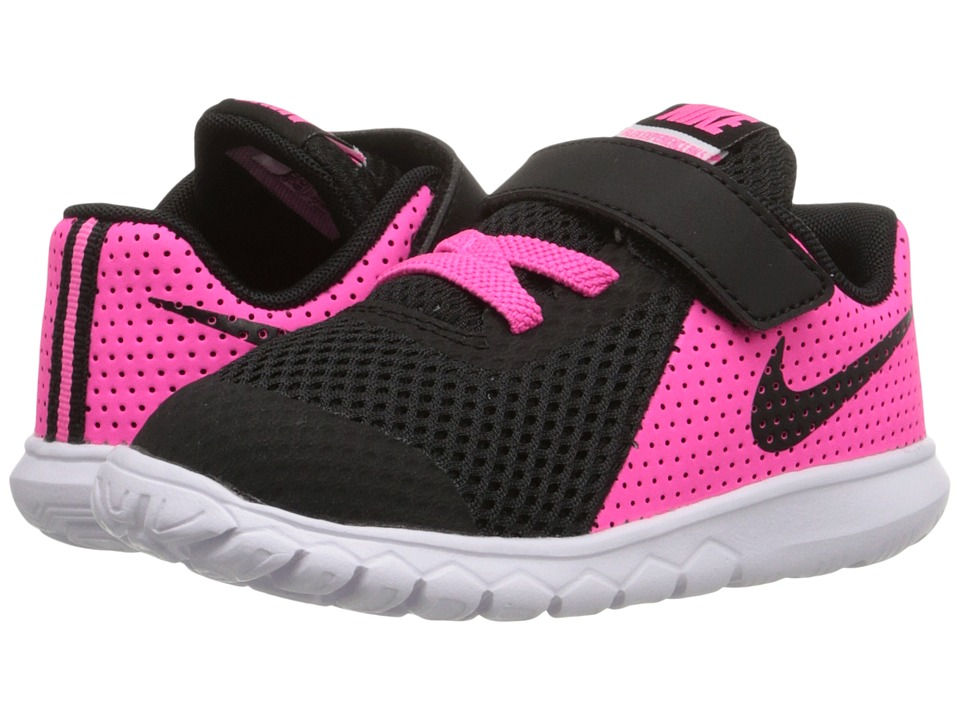 Nike Kids - Flex Experience 5 (Infant/Toddler) (Pink Blast/White/Black) Girls Shoes