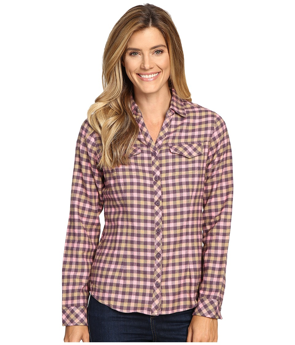 Columbia - Simply Put II Flannel Shirt (Dusty Purple Check) Women's Long Sleeve Button Up