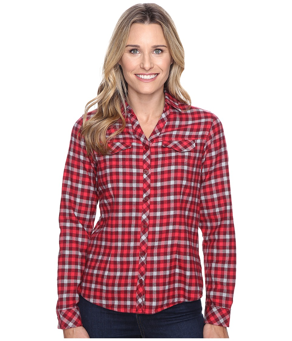 Columbia - Simply Put II Flannel Shirt (Chianti Check) Women's Long Sleeve Button Up