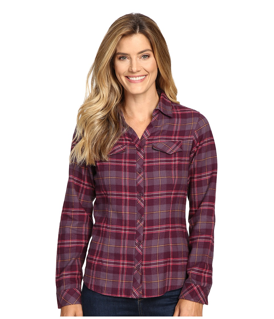Columbia - Simply Put II Flannel Shirt (Purple Dahlia Large Plaid) Women's Long Sleeve Button Up