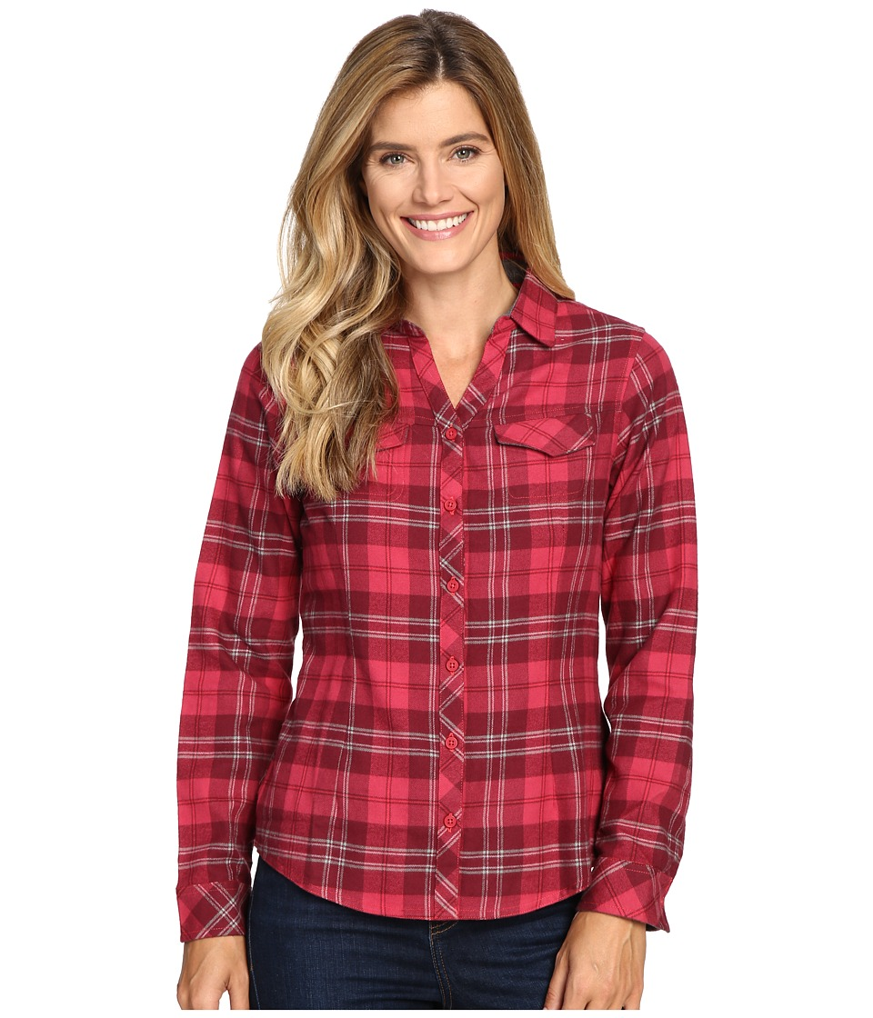 Columbia - Simply Put II Flannel Shirt (Red Orchid Large Plaid) Women's Long Sleeve Button Up