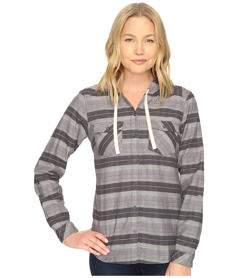 Columbia - Times Two Hooded Long Sleeve Shirt (Shark Stripe) Women's Long Sleeve Button Up
