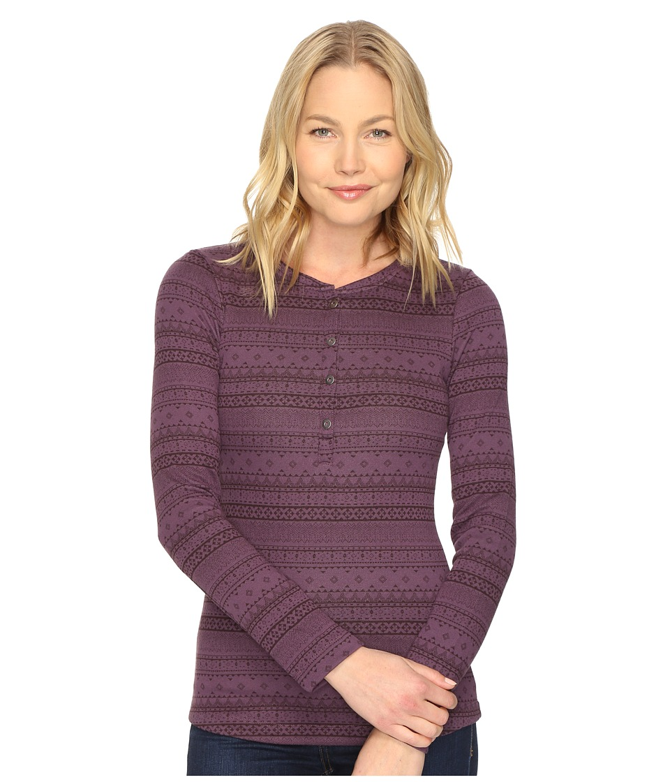 Columbia - Aspen Lodge Jacquard Henley (Dusty Purple Jacquard) Women's Clothing