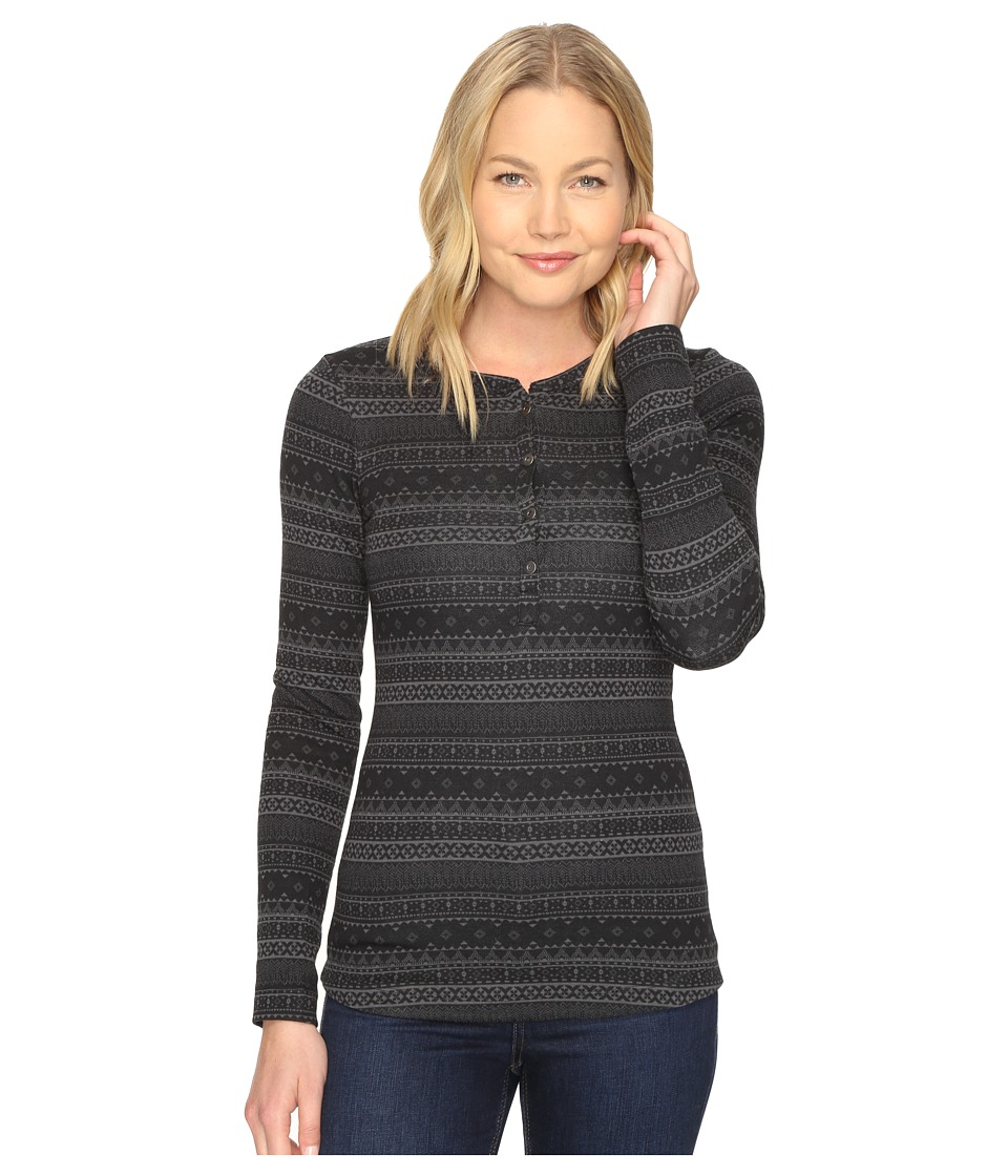 Columbia Aspen Lodge Jacquard Henley (Black Jacquard) Women