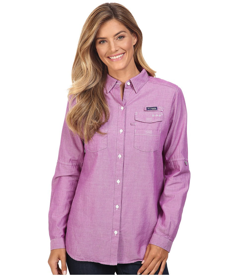 Columbia - Super Bonehead II L/S Shirt (Bright Plum Oxford) Women's Long Sleeve Button Up