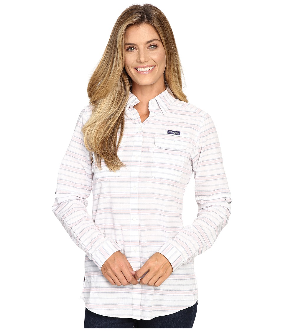 Columbia - Super Bonehead II L/S Shirt (Bluebell Stripe) Women's Long Sleeve Button Up