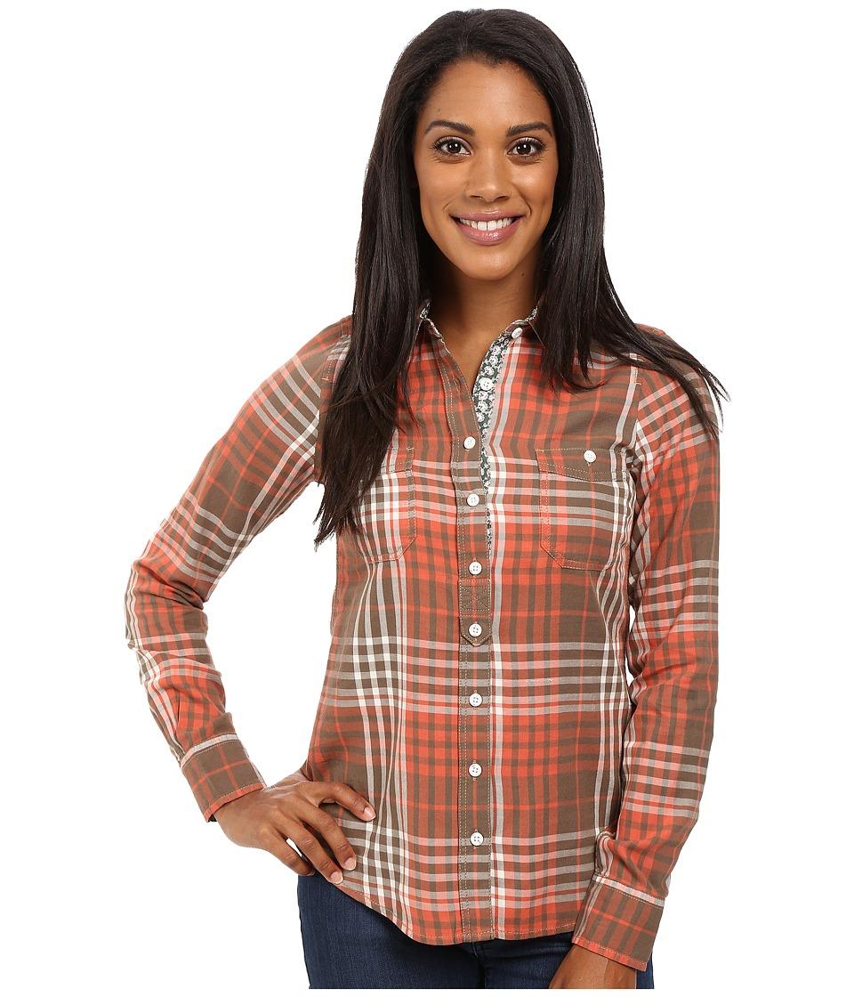 Aventura Clothing - Maya Long Sleeve Shirt (Walnut/Chili) Women's Long Sleeve Button Up
