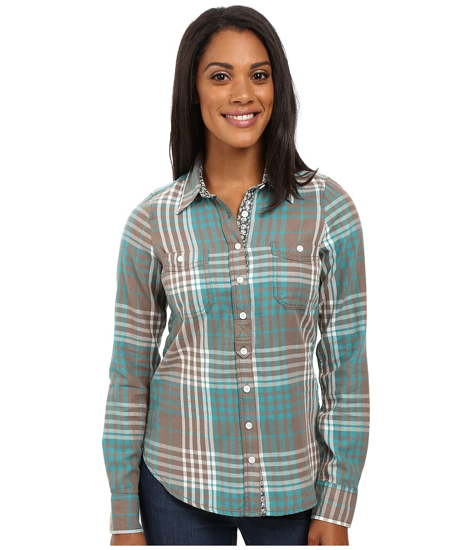 Aventura Clothing - Maya Long Sleeve Shirt (Smoked Pearl/Biscay Bay) Women's Long Sleeve Button Up