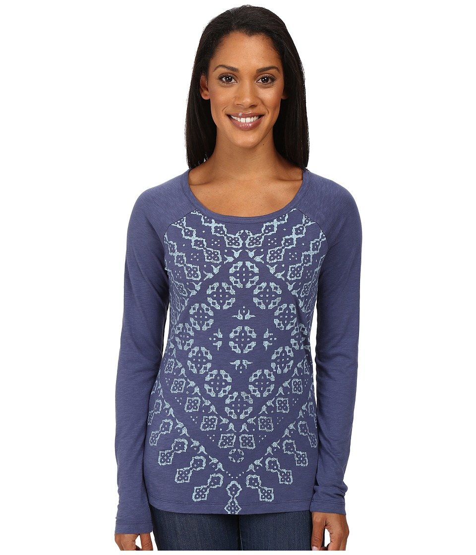 Aventura Clothing - Zoe Long Sleeve Top (Blue Indigo) Women's Long Sleeve Pullover