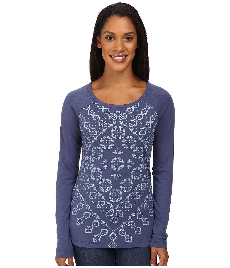 Aventura Clothing - Zoe Long Sleeve Top (Blue Indigo) Women's Long Sleeve Pullover