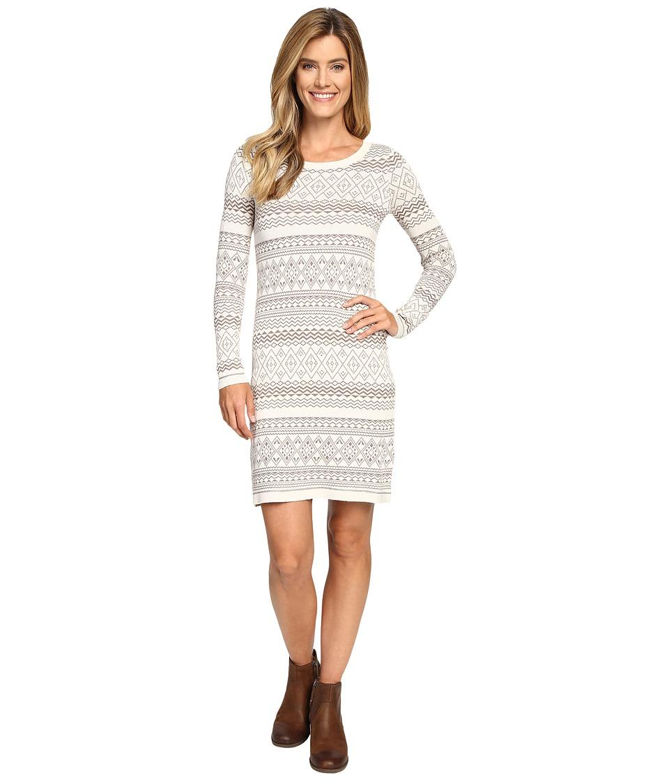 Aventura Clothing Clara Dress (Whisper White/Walnut) Women