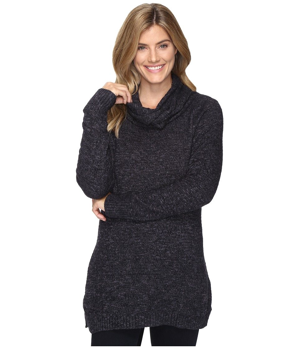 ExOfficio Lorelei Infinity Cowl Neck (Black Heather) Women