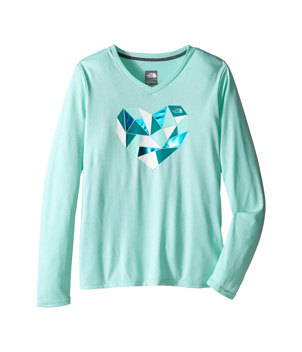 The North Face Kids - Long Sleeve Reaxion Tee (Little Kids/Big Kids) (Ice Green Heather) Girl's Long Sleeve Pullover