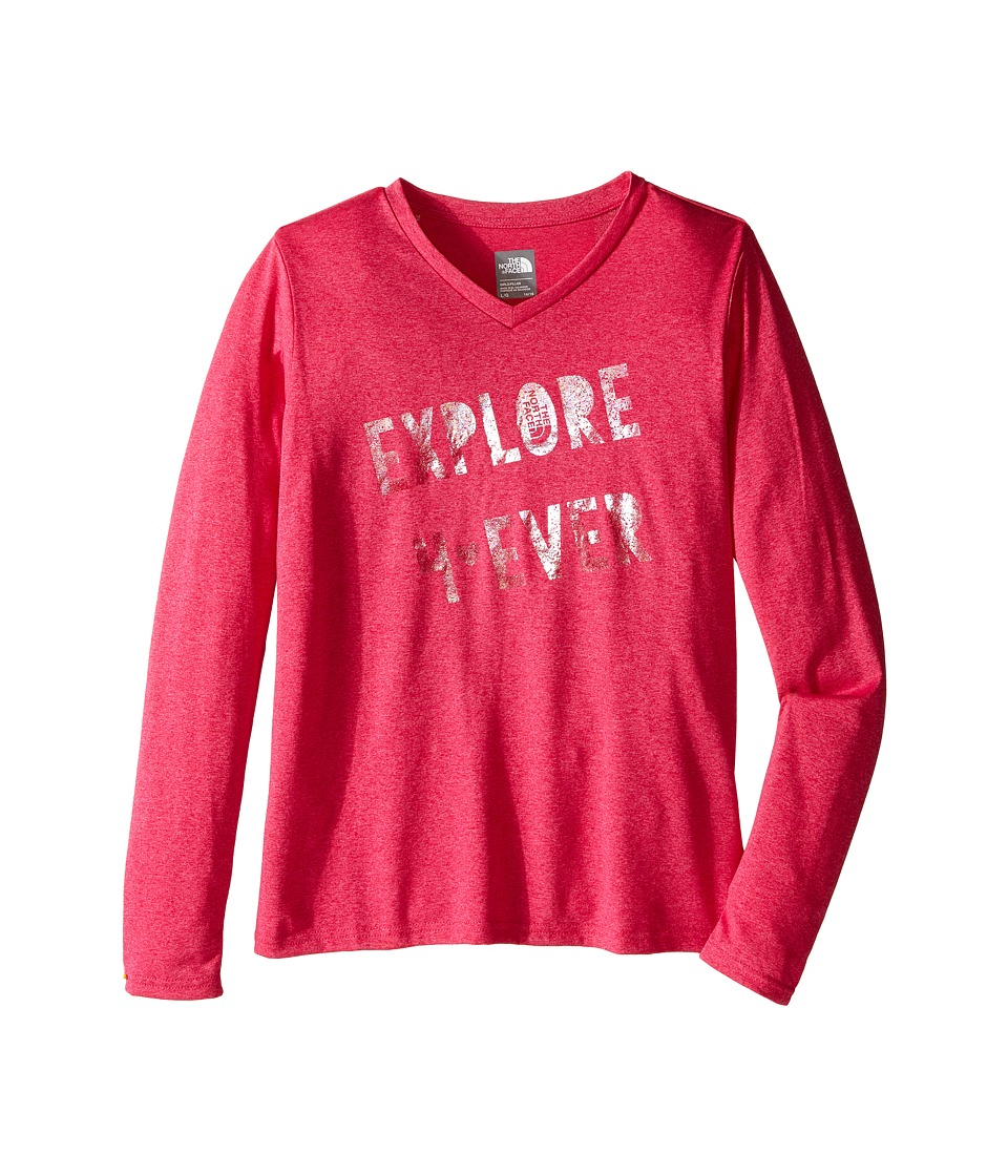 The North Face Kids - Long Sleeve Reaxion Tee (Little Kids/Big Kids) (Cabaret Pink Heather) Girl's Long Sleeve Pullover