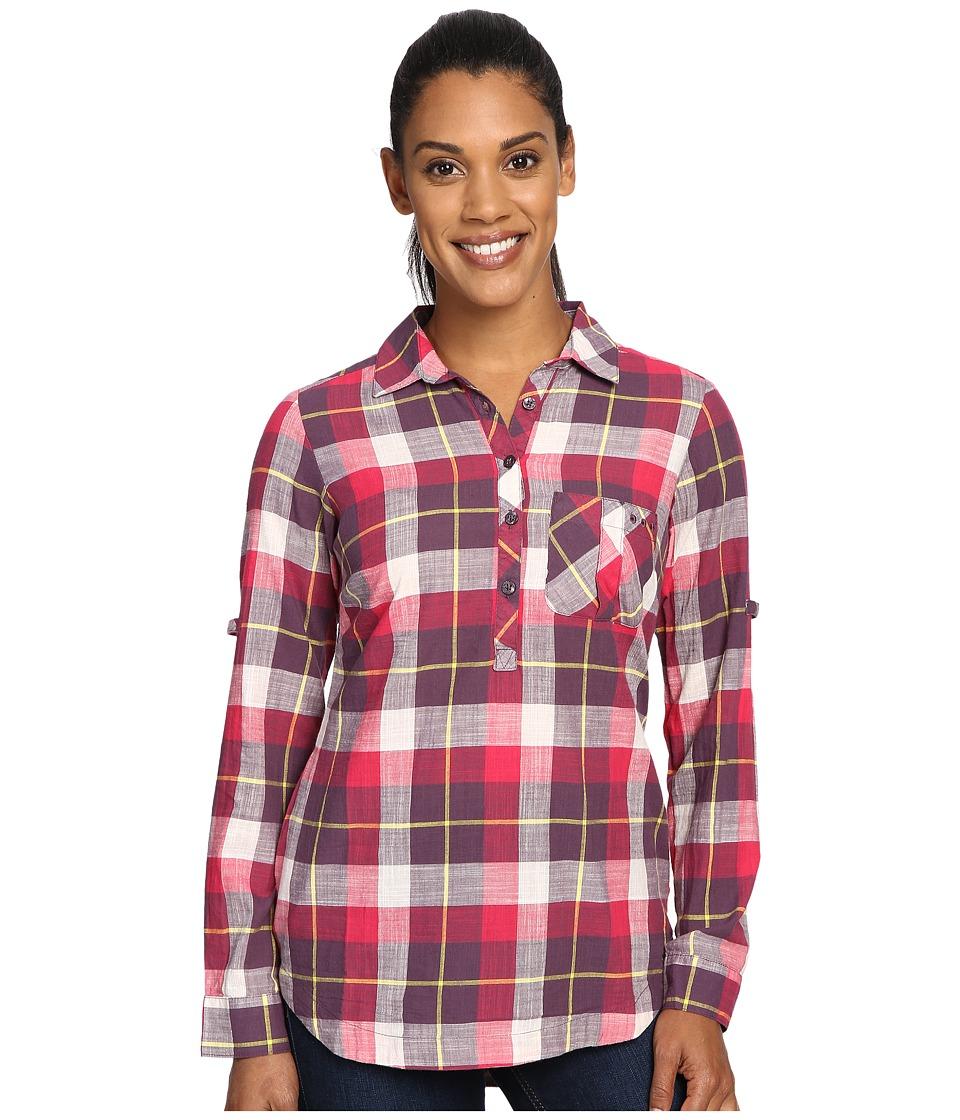 Columbia - Coral Springs II Woven Long Sleeve Shirt (Purple Dahlia Plaid) Women's Long Sleeve Button Up