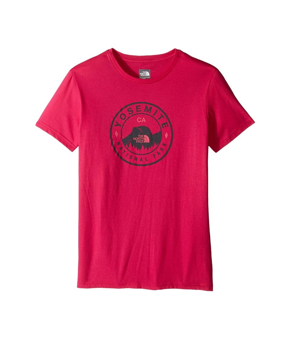 The North Face Kids - Short Sleeve Graphic Tee (Little Kids/Big Kids) (Cabaret Pink/Graphite Grey) Girl's Short Sleeve Pullover