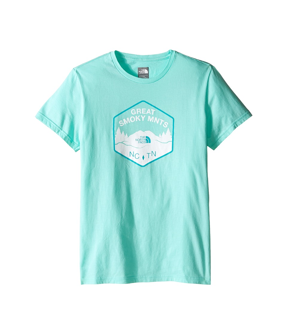 The North Face Kids - Short Sleeve Graphic Tee (Little Kids/Big Kids) (Ice Green/TNF White) Girl's Short Sleeve Pullover