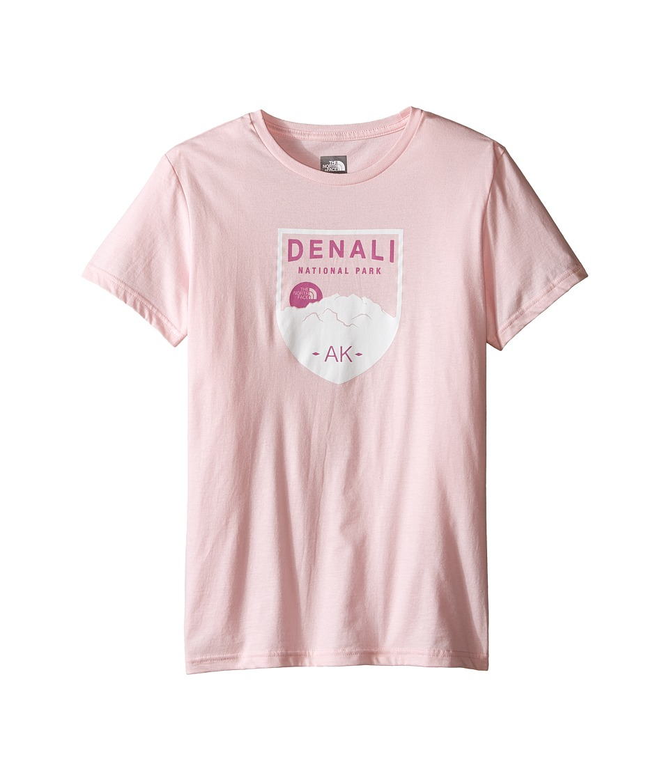 The North Face Kids - Short Sleeve Graphic Tee (Little Kids/Big Kids) (Coy Pink/TNF White) Girl's Short Sleeve Pullover