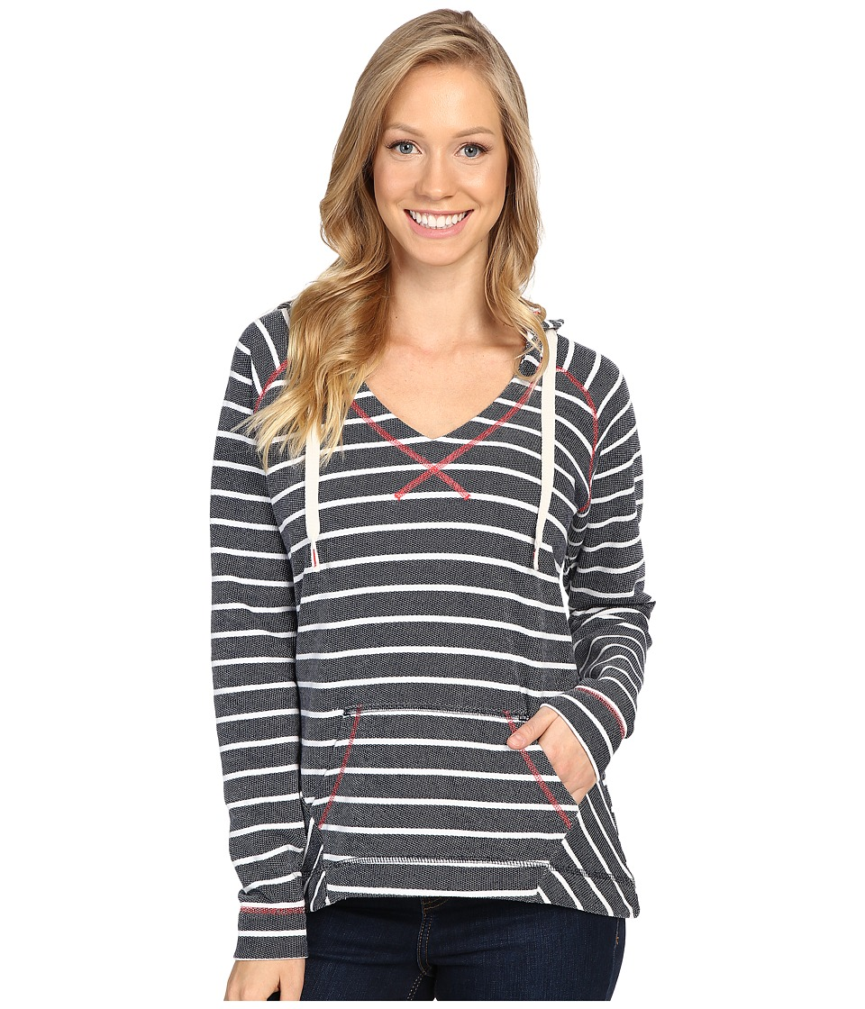 Columbia - Tropic Haven Stripe Hoodie (Collegiate Navy Stripe) Women's Sweatshirt