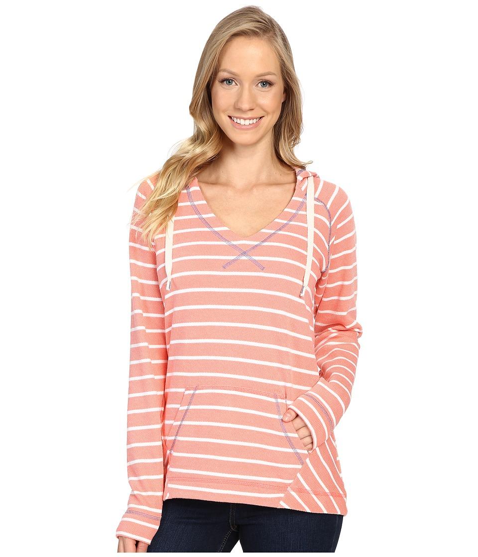 Columbia - Tropic Haven Stripe Hoodie (Hot Coral Stripe) Women's Sweatshirt