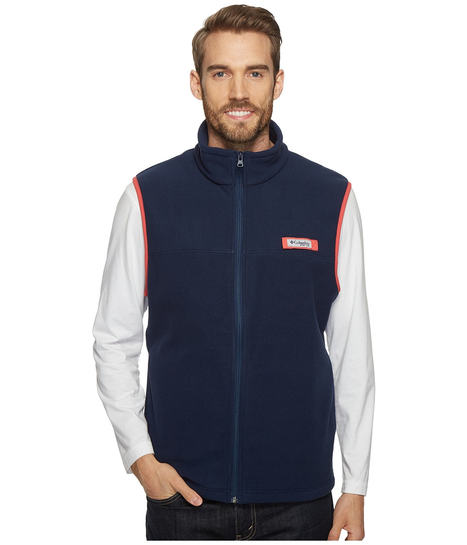 Columbia - Harborsidetm Fleece Vest (Collegiate Navy/Sunset Red) Men's Coat