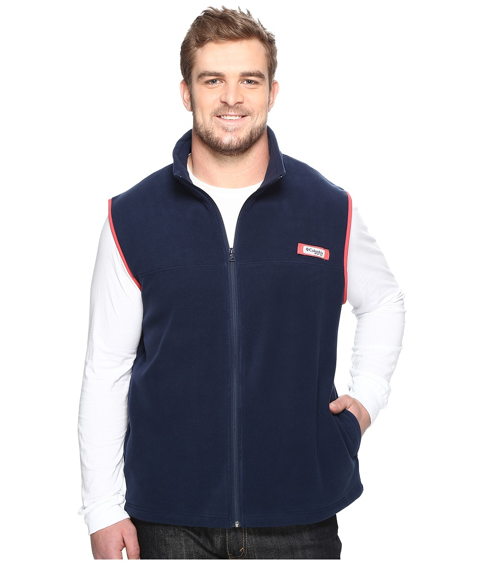 Columbia - Big Tall Harborside Fleece Vest (Collegiate Navy/Sunset Red) Men's Vest