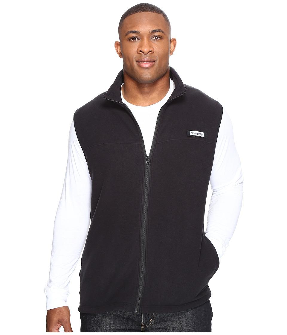 Columbia - Big Tall Harborside Fleece Vest (Black/Black) Men's Vest