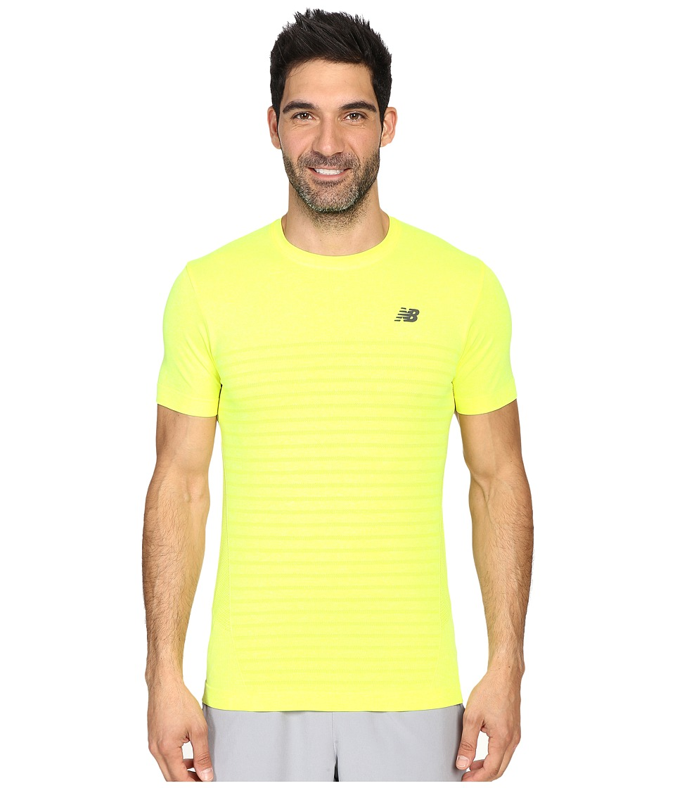 New Balance - M4M Seamless Short Sleeve Top (Firefly Heather) Men's Short Sleeve Pullover