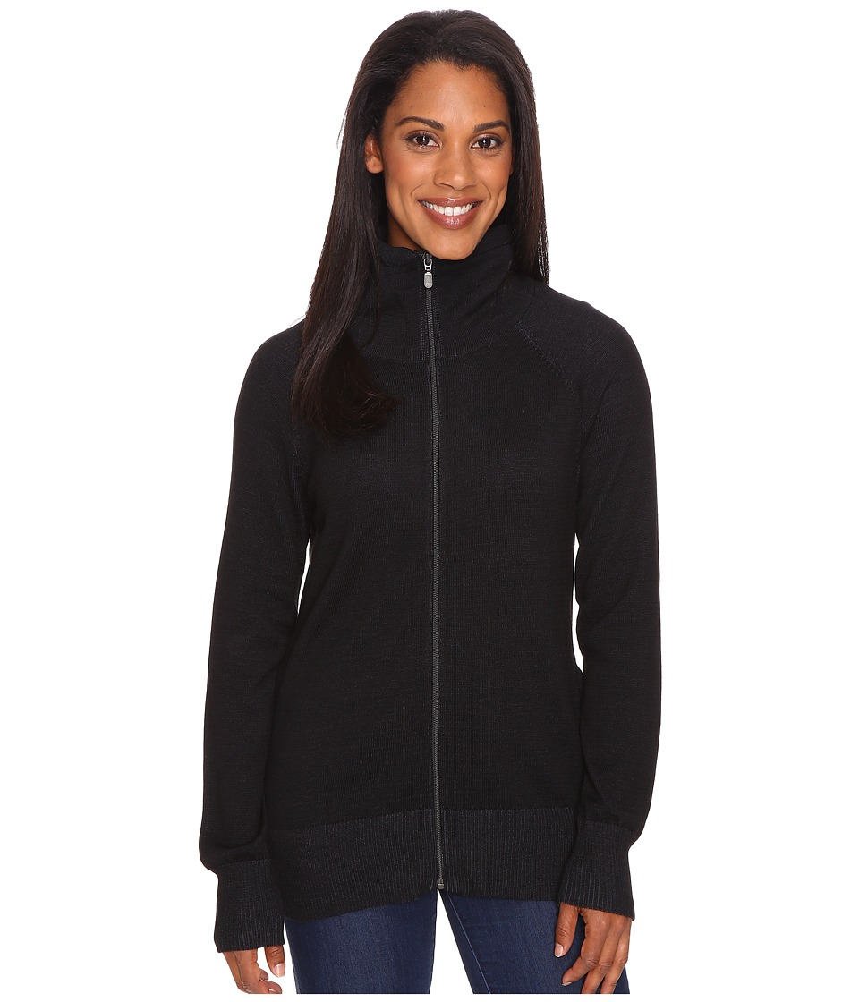 ExOfficio - Milena Full Zip (Black Heather) Women's Long Sleeve Pullover