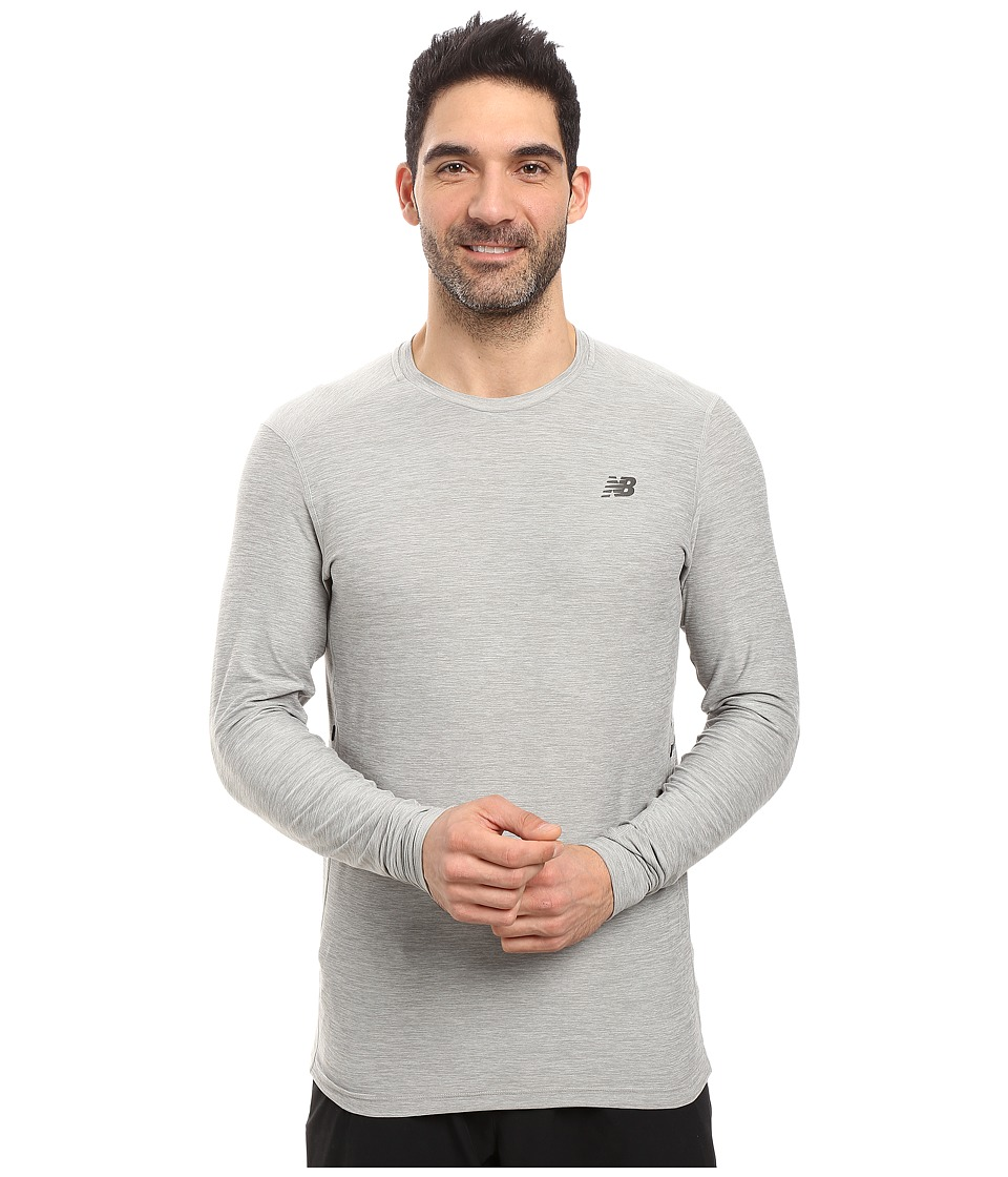 New Balance - Transit Long Sleeve Top (Athletic Grey) Men's Long Sleeve Pullover