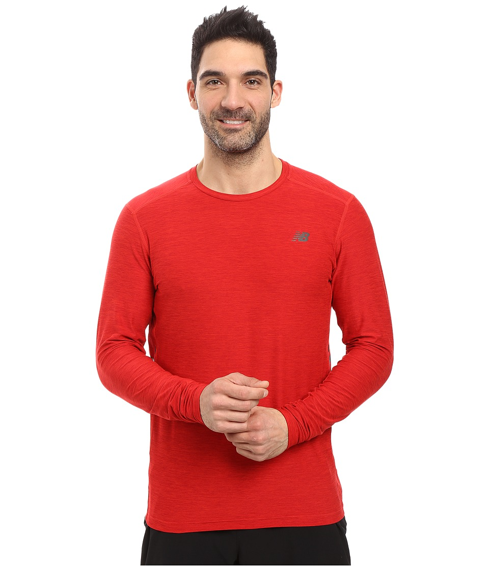 New Balance - Transit Long Sleeve Top (Atomic) Men's Long Sleeve Pullover