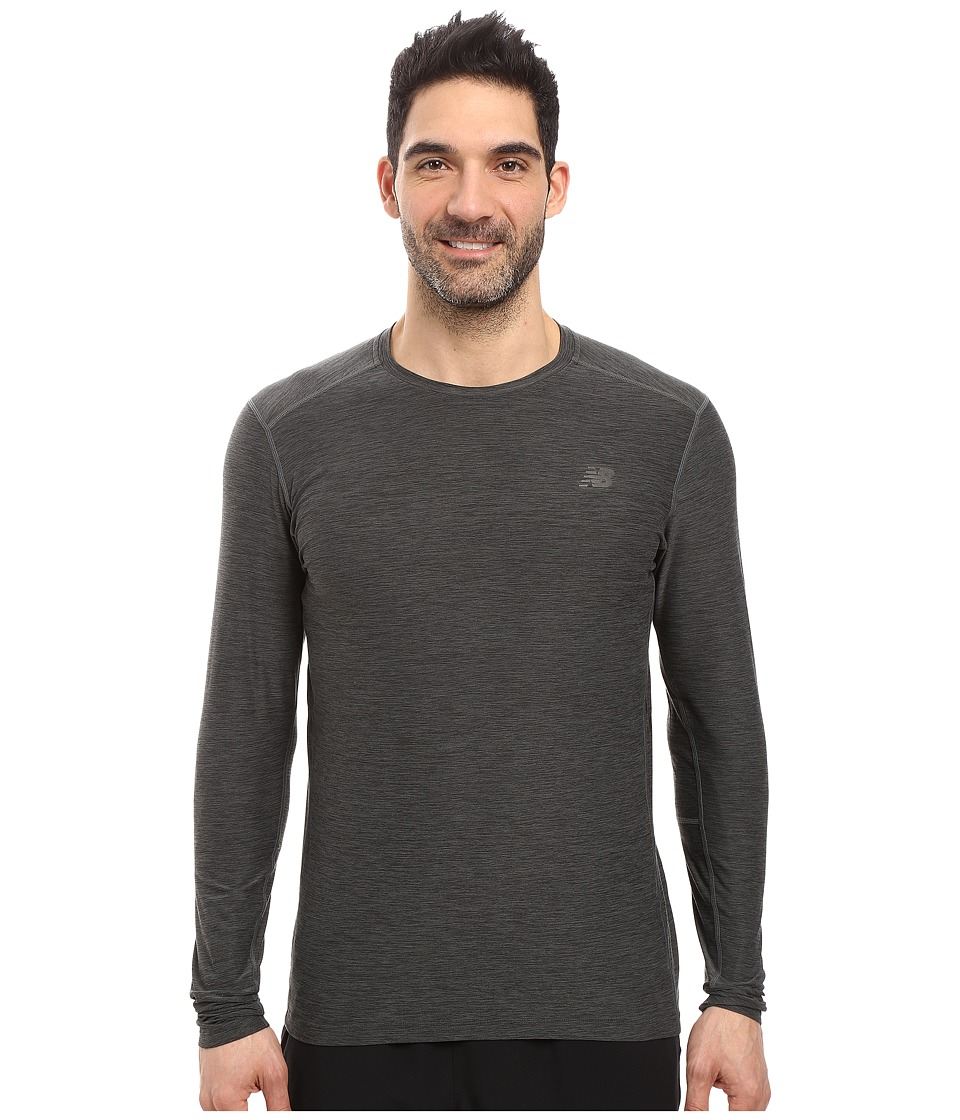 New Balance - Transit Long Sleeve Top (Heather Charcoal) Men's Long Sleeve Pullover