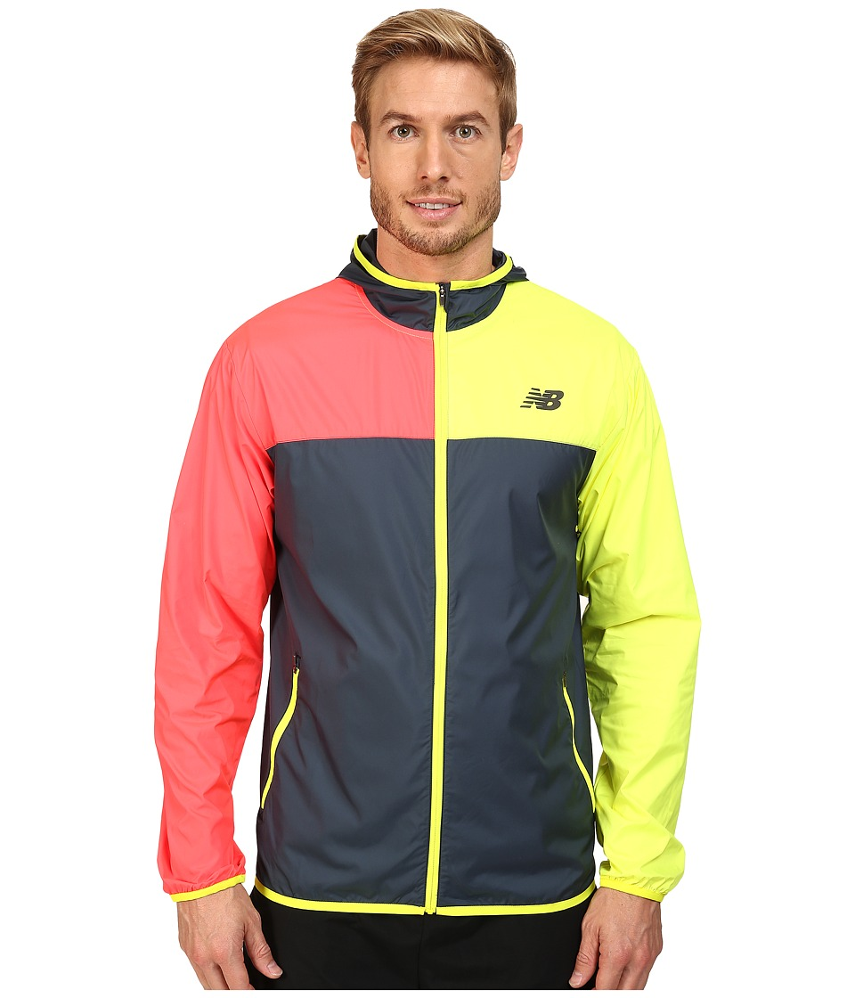 New Balance - Windcheater Jacket (Galaxy/Firefly/Bright Cherry) Men's Jacket