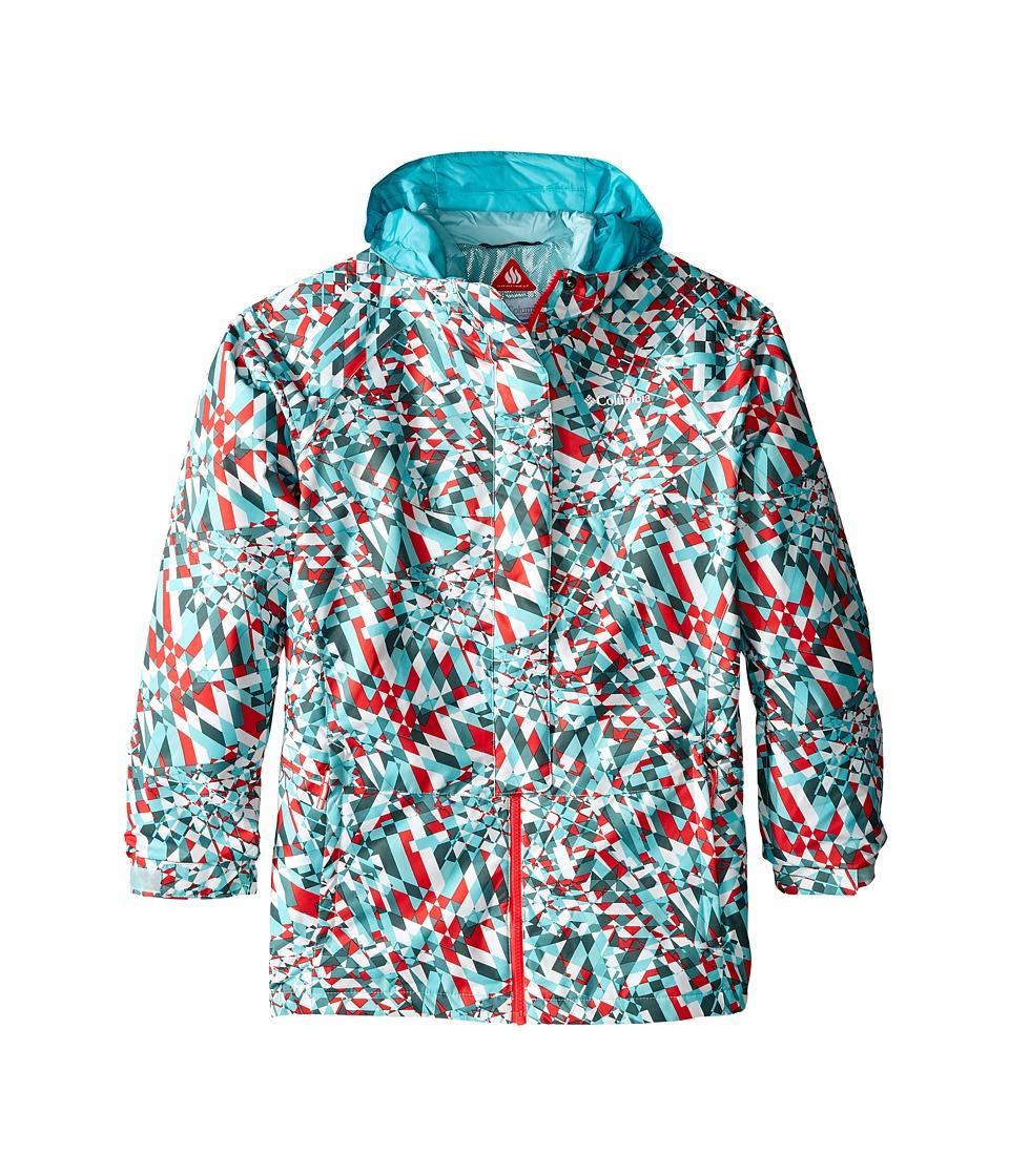 Columbia Kids - Whirlibird Interchange Jacket (Little Kids/Big Kids) (Spray Crossed Lines/Miami) Girl's Coat