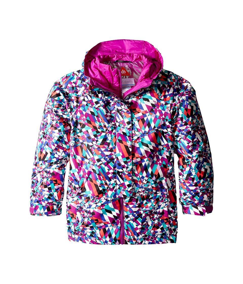 Columbia Kids - Whirlibird Interchange Jacket (Little Kids/Big Kids) (Bright Plum Crossed Lines) Girl's Coat