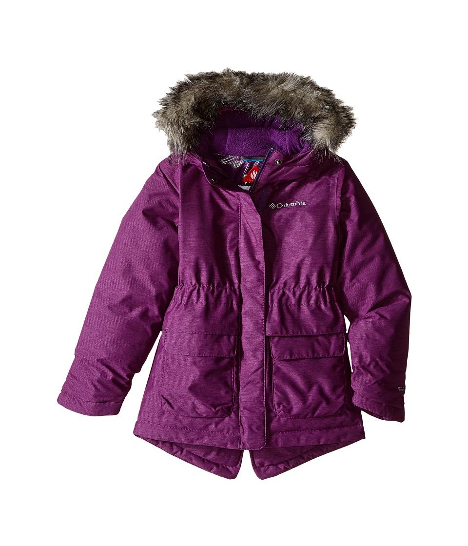 Columbia Kids - Nordic Strider Jacket (Little Kids/Big Kids) (Iris Glow) Girl's Coat