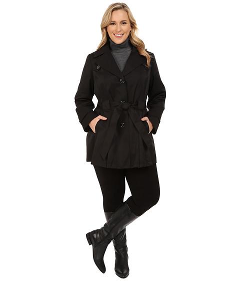 Via Spiga - Plus Size Scarpa Coat (Black) Women