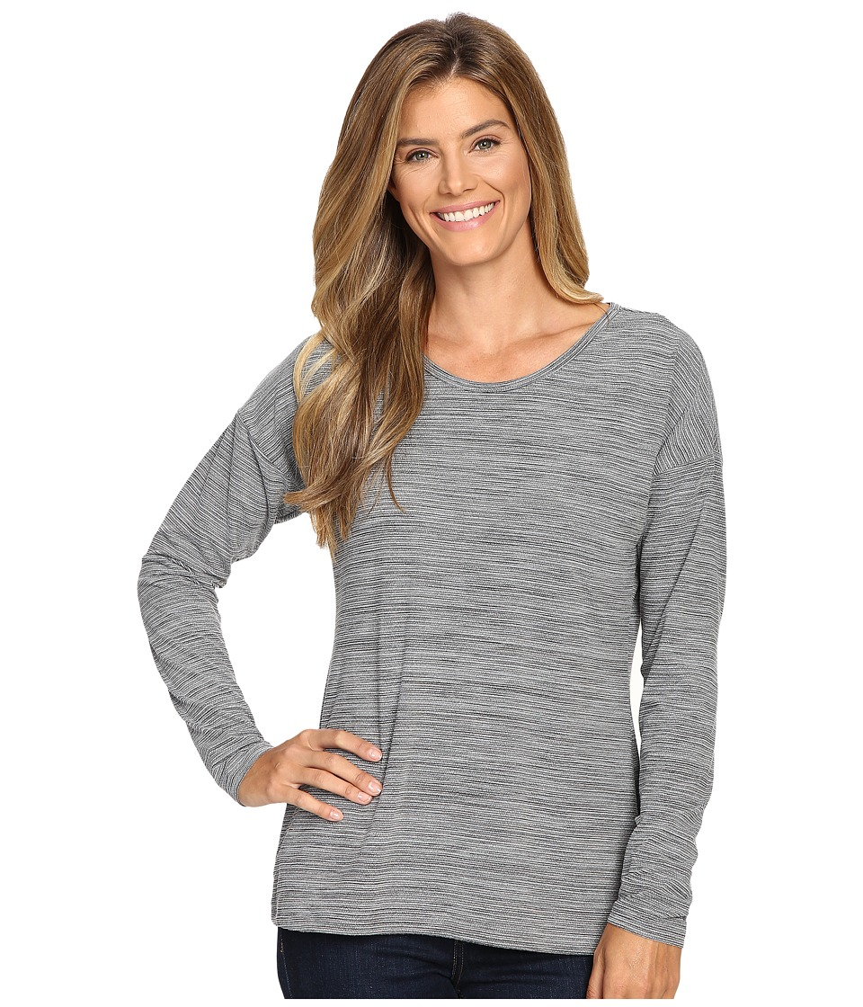ExOfficio - Wanderlux Jacquard Ballet Neck (Charcoal Heather) Women's Long Sleeve Pullover