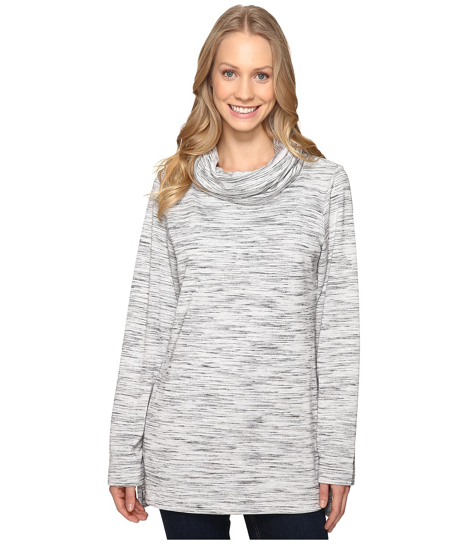 ExOfficio - Adana Cowl Tunic (Black/Slate/White) Women's Sweater