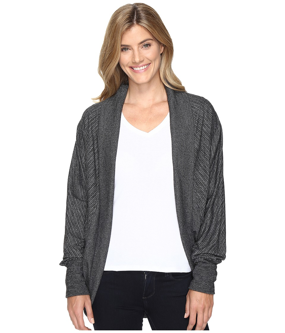 ExOfficio - Alanya Cocoon Wrap (Charcoal Heather) Women's Sweater